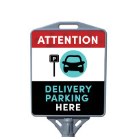 Social Distancing  - Delivery Parking Here Restaurant Sign Outdoor Cone Poster Sign with Print