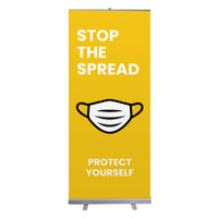 "Social Distancing Protect Yourself Wear PPE Stop The Spread Pull Up Sign 33"" x 78"" Roll Up Retractable Banner Stand"