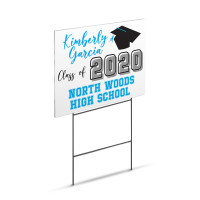 "Graduation Yard Sign - Large 18"" x 24"" Lawn Yard Sign Printed On Both Sides"