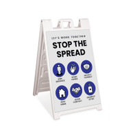 Stop the Spread Signicade A-Frame Sign