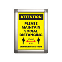 Social Distancing  Snap Open Poster Frame with Print