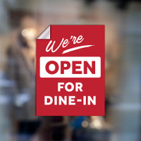 "Open for Dining 9""x12"" Window Graphic"