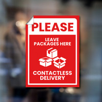 "Contactless Delivery 9""x12"" Window Graphic"