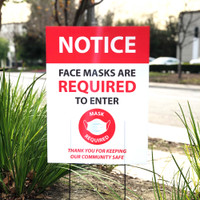 Face Mask Required To Enter Sign
