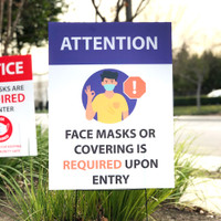 Daycare Mask Face Cover Required Sign