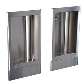 Stainless Steel Recessed Drinking Fountain with Cuspidor