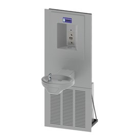 Oval Bowl Chilled Barrier-Free Wall Mount Drinking Fountain with Sensor Activated Bottle Filler