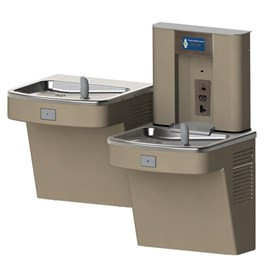 Barrier-Free Wall Mount Universal Bi-Level Water Cooler with Bottle Filler
