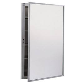 Recessed Stainless Steel Medicine Cabinet with Glass Mirror