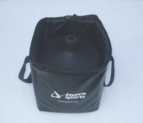 Vinyl carry bag holds 4 rubber bases