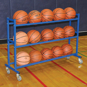 Multi-level rack stores up to 15 balls