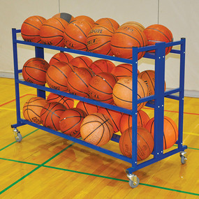 Multi-level rack stores up to 30 balls