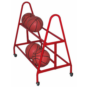 Holds up to 18 basketballs or 21 volleyballs