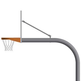 4½ Gooseneck Post (w/ Fan Board – Playground Goal)