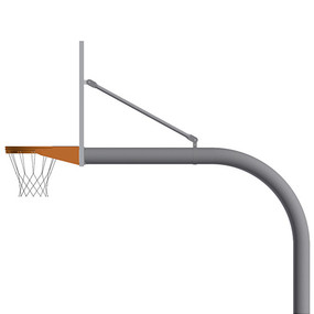 5-9/16 Gooseneck Post (w/ Perf Steel Board – Playground Goal)