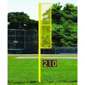 15' Softball Foul Pole (Semi/Perm – White)