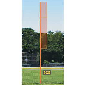 20 Collegiate Foul Pole (Softball – Semi/Perm – Orange)