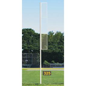 20 Collegiate Foul Pole (Softball – Semi/Perm – White)