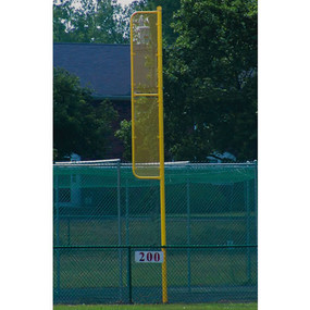 40' Professional Foul Pole (Baseball – Semi/Perm – Yellow)