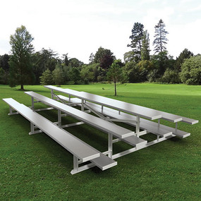 7½ Back-to-Back Preferred Bleacher (3 Row – Natural Finish)