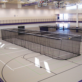 Ceiling Suspended Retractable Baseball Batting Cage