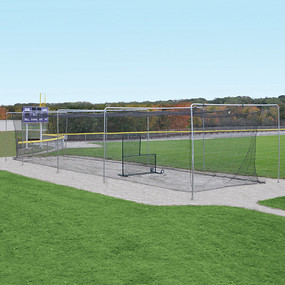 55' Surface-Mounted Outdoor Batting Tunnel Frame
