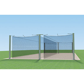 55′ MEGA Outdoor Batting Tunnel Frame (Double)