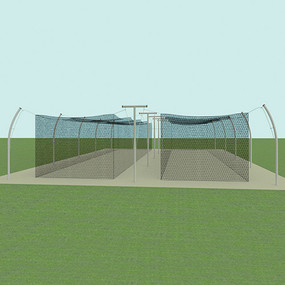 70' Tandem Professional Outdoor Batting Tunnel Frame