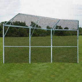 Permanent Baseball/Softball Backstop (3 Panel, 1 Center, 2 Wing)