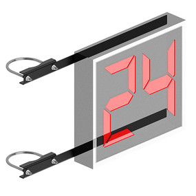 "Shot Clock Mounting Bracket (only) (6-?"" Mast)"