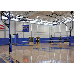 Ceiling Suspended Volleyball System – w/ Referee Stand