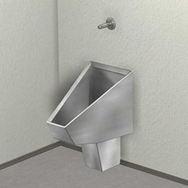 Washout Straddle Urinal, Rear Mount