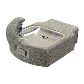 Square Concrete Wall Mounted Drinking Fountain