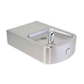 Square 14-Gage Stainless Steel Wall Mounted Drinking Fountain