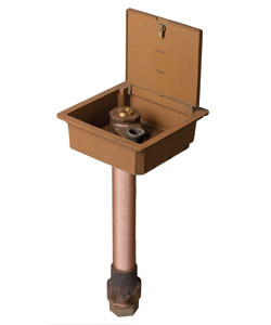 Bronze Ground Hydrant with Shallow Box and Large Inlets