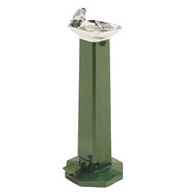 Foot Pedal Operated Rectangular Bowl Retro Style Drinking Fountain