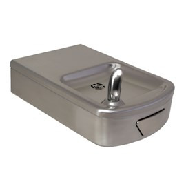 Rounded Box Barrier-Free Wall Mount Drinking Fountain