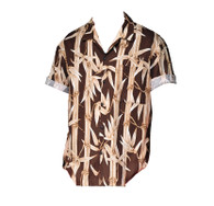 Vintage Brown Bamboo Print Shirt