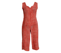 Vintage Red & White Pattern Jumpsuit