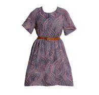 Vintage Purple Pattern Dress