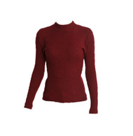 Vintage Red Ribbed Knit