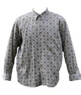 Vintage Brown Paisley Print Shirt