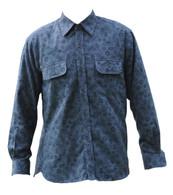 Vintage Grey Paisley Print Shirt