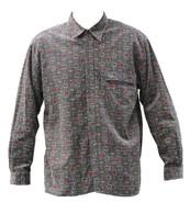 Vintage Chocolate Print Cord Shirt