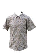 Vintage Taupe African Print Shirt