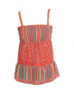 Vintage Red Mixed Print Singlet