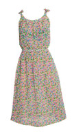 Vintage Green, Pink & Blue Pattern Dress