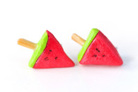 Kate and Rose Watermelon Slice on a Stick Earrings