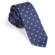 OTAA Navy Blue with White Polka Dots Skinny Tie