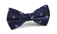 OTAA Navy Blue Anchor Bow Tie